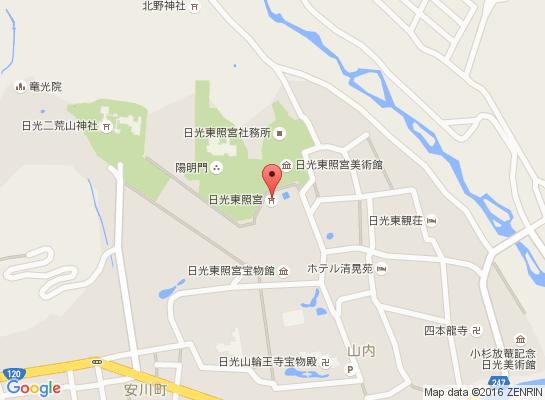 日光東照宮マップ