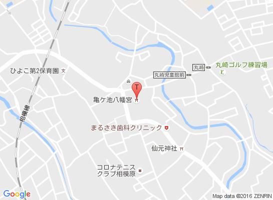 亀ヶ池八幡宮マップ