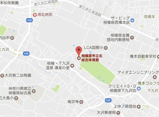 北総合体育館マップ