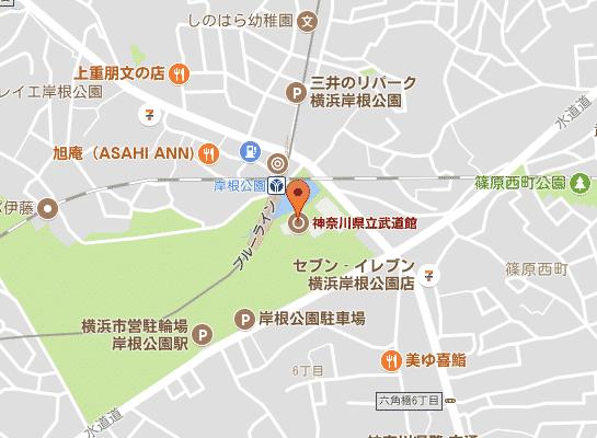 県立武道館マップ