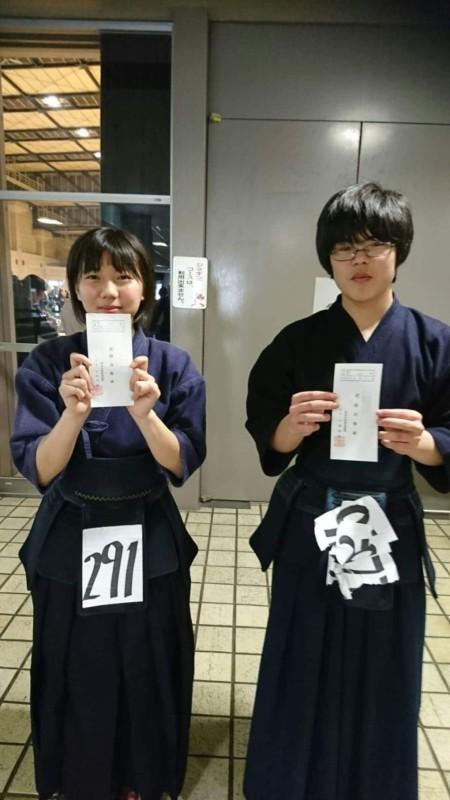 HくんとMちゃん二段合格おめでとうございます!