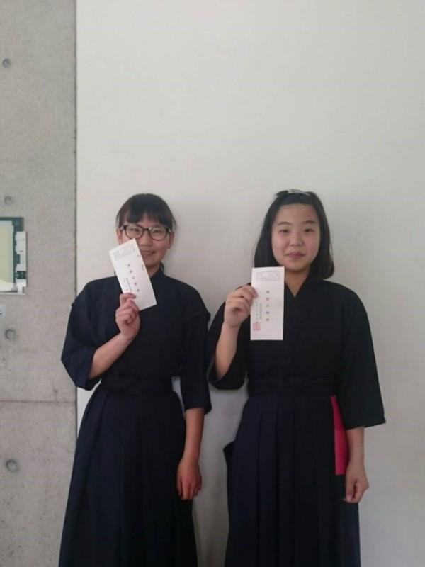 Yちゃん&Sちゃん初段合格おめでとうございます