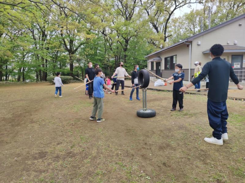 公園での合同自主練の様子